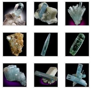 Minerals dot net rough aqua