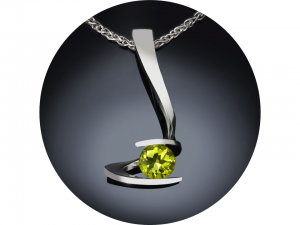 Peridot Jewelry in Argentium Silver